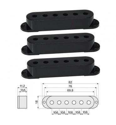 Boston SPC-62-BK Cover per pickup single coil confezione 3 pz colore nero