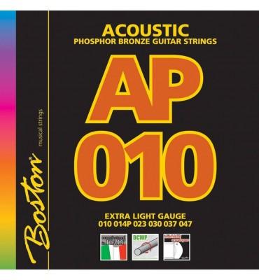 Boston AP-10 muta di corde per chitarra acustica 010-047