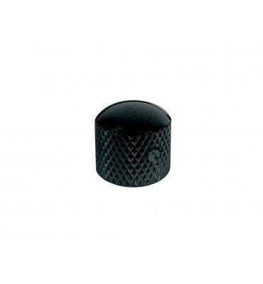 Boston KB-210 Dome knob manopola in metallo per chitarra e basso colore nero