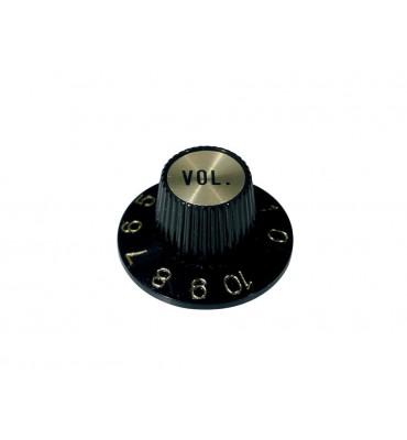 Boston KG-260-V Manopola volume per chitarra e basso colore nero oro