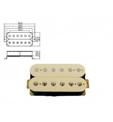 Boston PU-50-RCR pickup humbucker per chitarra elettrica 16,6 Kohm 2 conduttori