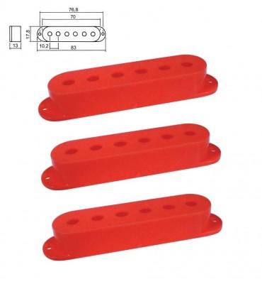 Boston SPC-10-RD Cover per pickup single coil confezione 3 pz colore rosso