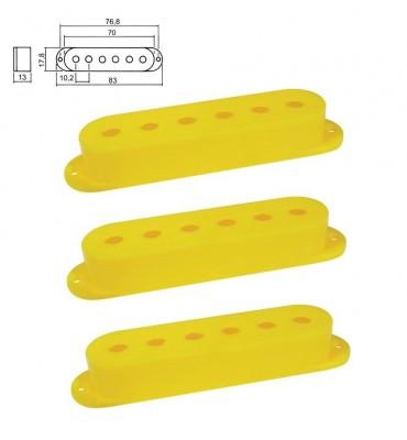 Boston SPC-10-YL Cover per pickup single coil confezione 3 pz colore giallo