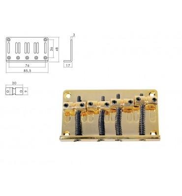 Boston BB-134-G Ponte per basso elettrico 4 corde colore oro
