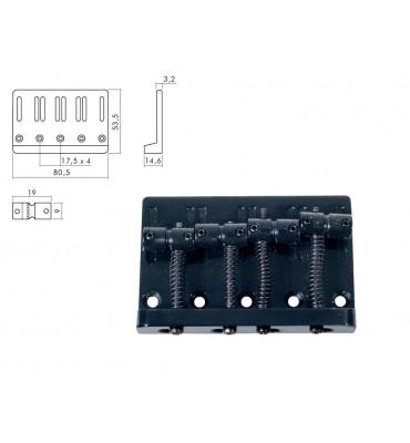 Boston BB-204-B Ponte per basso elettrico 4 corde colore nero
