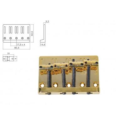Boston BB-204-G Ponte per basso elettrico 4 corde colore oro
