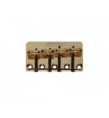 Wilkinson BB-WBBC-G Ponte per basso elettrico 4 corde con sellette in ottone