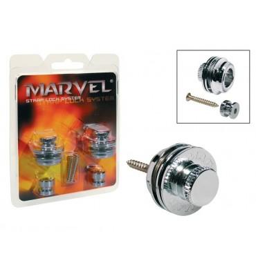 Marvel MVS-501-CR Attacchi straplock per tracolla da chitarra e basso 2 pz