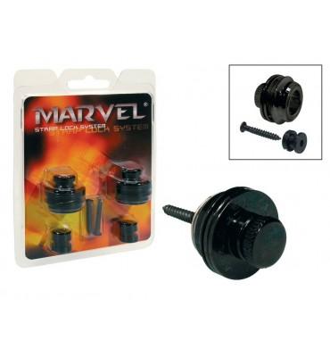 Marvel MVS-501-BK Attacchi straplock per tracolla da chitarra e basso 2 pz