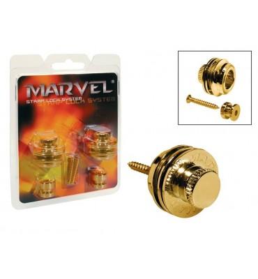 Marvel MVS-501-GD Attacchi straplock per tracolla da chitarra e basso 2 pz
