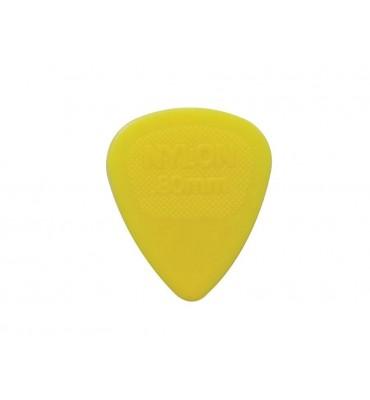 Dunlop 443-R-80/S Set di plettri per chitarra in nylon 0,80 colore giallo 12pz