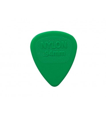 Dunlop 443-R-94/S Set di plettri per chitarra in nylon 0,94 colore verde 12pz