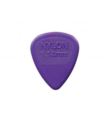 Dunlop 443-R-114/S Set di plettri per chitarra in nylon 1,14 colore viola 12pz