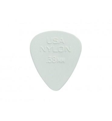 Dunlop 44-P-38 Set di plettri per chitarra in nylon 0,38 colore bianco 12pz
