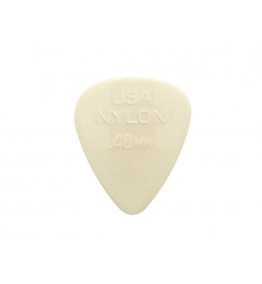 Dunlop 44-P-46 Set di plettri in nylon per chitarra 0,46 colore crema 12pz