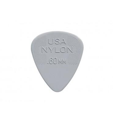 Dunlop 44-P-60 Set di plettri per chitarra in nylon 0,60 colore grigio 12pz