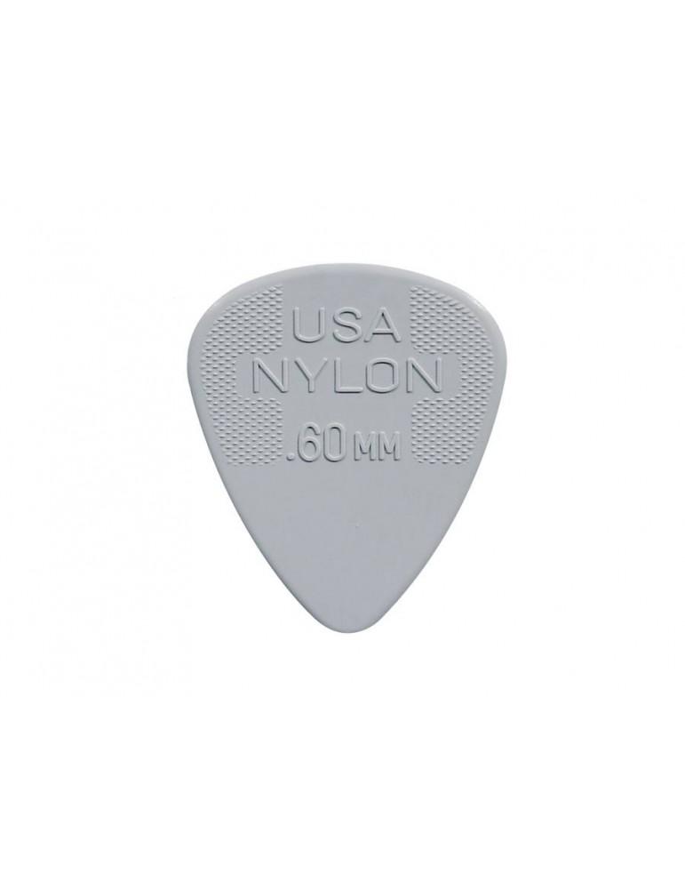 Dunlop 0,53 mm colore: Rosso Plettri per chitarra in nylon confezione da 12