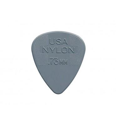 Dunlop 44-P-73 Set di plettri per chitarra in nylon 0,73 colore grigio 12pz
