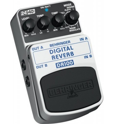 BEHRINGER - DR100 DIGITAL REVERB Effetto a pedale per Chitarra