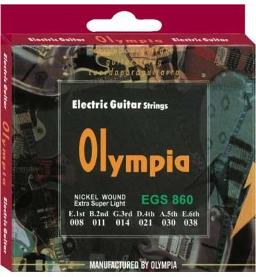 Olympia Strings EGS860 008-038 Muta di corde per chitarra elettrica