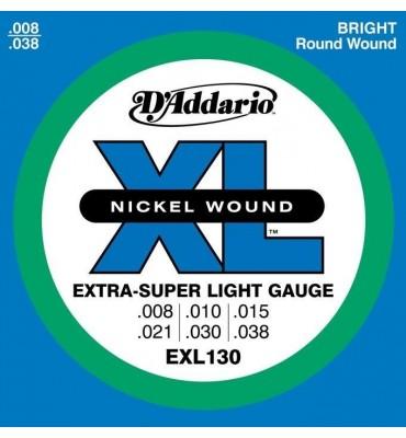 D'addario EXL130 008-038 Muta di corde per chitarra elettrica